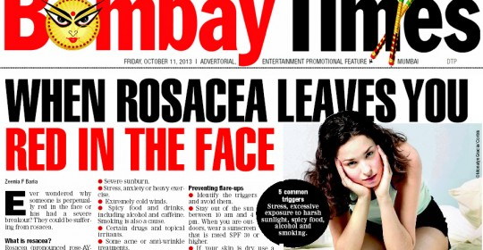 When Rosacea leaves you Red in the Face – Bombay Times